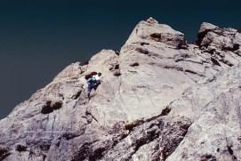 Escalade, sur l'arête sud de Tendenera