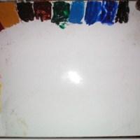 La paleta de colores y mezcla