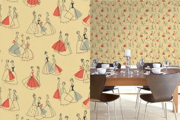 Fifi wallpaper by Sanderson - part of the 50's Collection