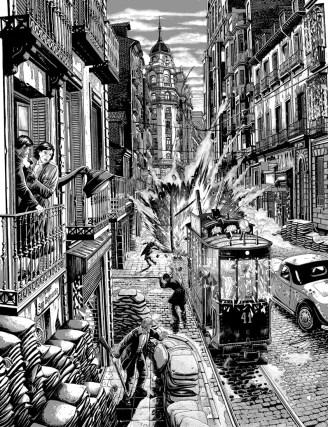 La calle San Bernardo en 1937