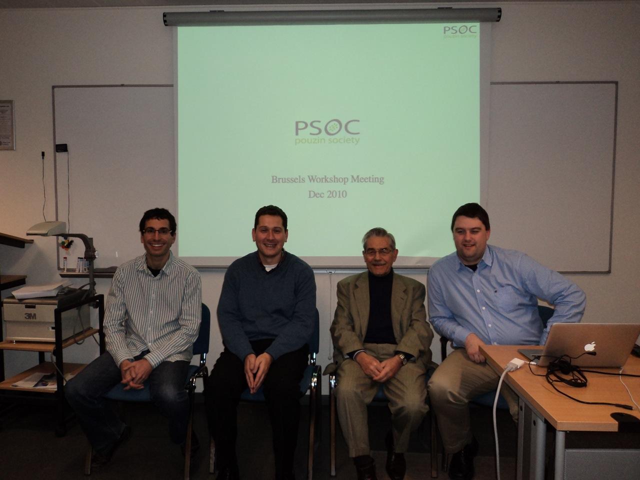 left to right, Eduard Grasa, Miguel Ponce de Leon, Louis Pouzin, Patsy Phelan