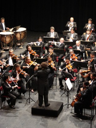 2012, Beethoven Cycle. Michoacan Symphony Orchestra. Photo, Ramon Merino
