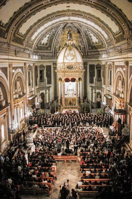 2013, Messa da Requiem Verdi. Michoacan Symphony Orchestra. Basilica de Patzcuaro, Mich., Mexico