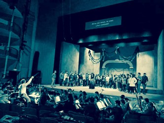 2014, OPERA CARMEN, rehearsal. Teatro Obrero, Zamora, Mich., Mexico