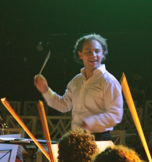 2013, Rehearsal on tour. Michoacan Symphony Orchestra. Playa del Carmen, Mexico