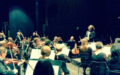 2014, In Germany, with the Trier Philarmonic Orchestra. On Dvoraks 8th Symphony