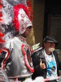 Mardi Gras Indians on Super Sunday 2016. New Orleans, LA