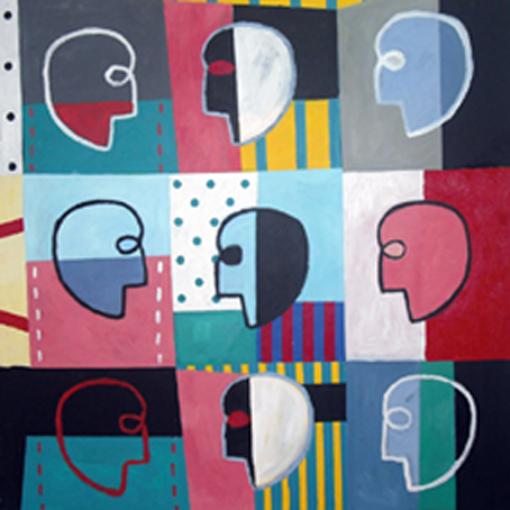 Conversación Barroca. Acrílico sobre lienzo. 120x120 cm. 2009 - copia