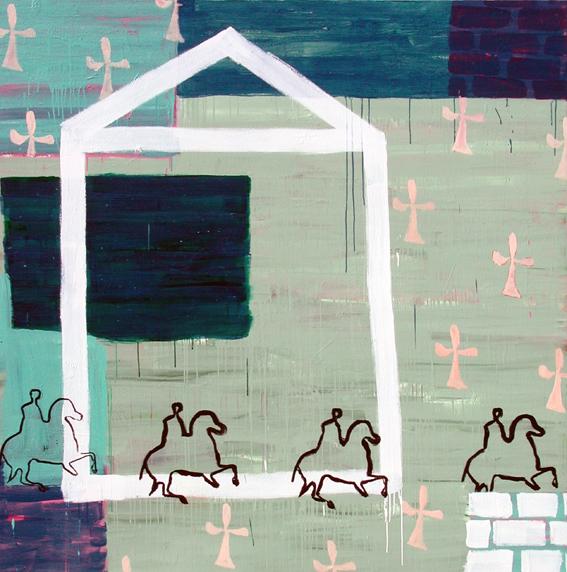 Lal forma del mundo I_ Acrílico sobre lienzo_ 200x200 cm_2001 La casa de Asterión
