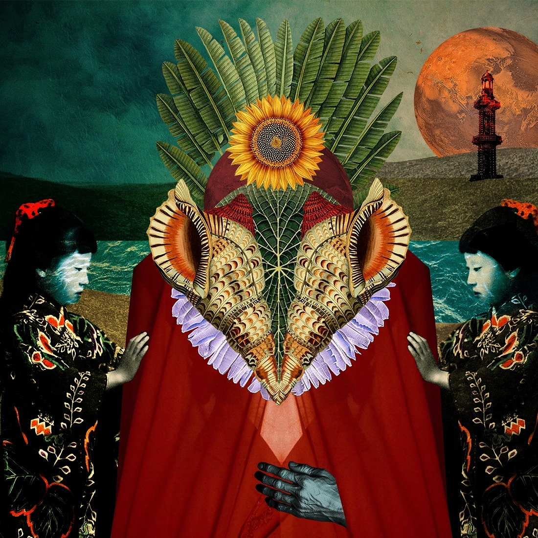 The idol. Digital Collage