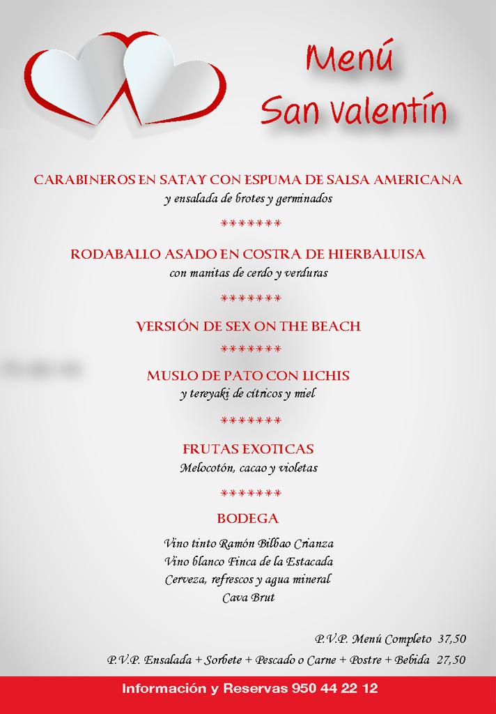 Cena de San Valentin en Restaurante Jardines La Tejera de