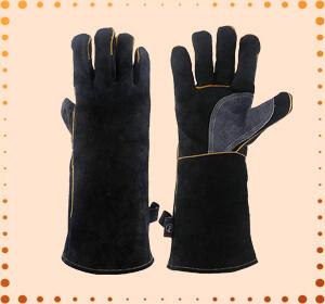 KIM YUAN Heat & Fire-Resistant Welding Leather Gloves