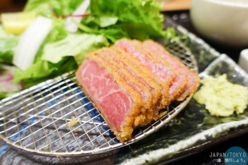 日本》東京上野阿美橫町好好吃的炸和牛 牛かつあおな本店 一口氣點兩份超值得吃