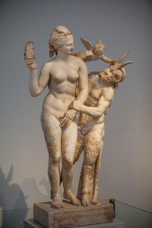 Aphrodite, Pan, and Eros
