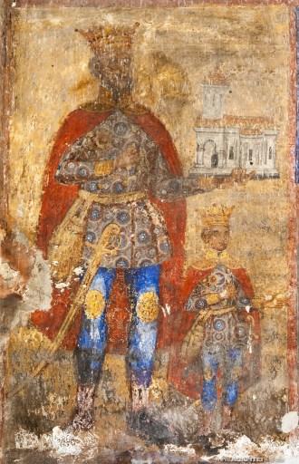 Tabloul votiv - Mircea cel Bătrân și fiul său Mihail