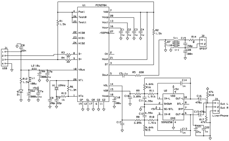 high pass filter capacitor schematic