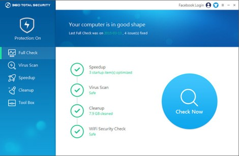 Download 360Total Security 7.6.0.1028 Free
