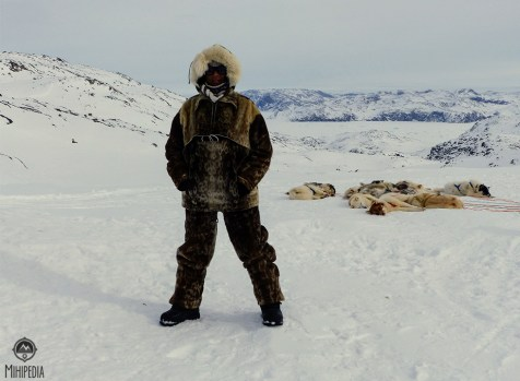 Rugged up in sealskin