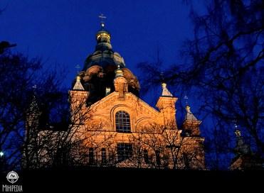 Uspenski Cathedral at night