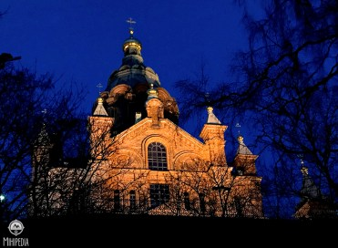 Uspenski Cathedral at night