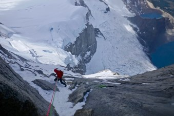 Abseiling Poincenot