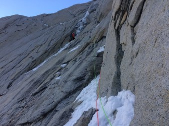 Mixed crux on Poincenot