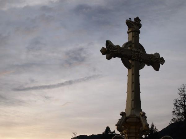 ルルド大聖堂。フランスルルド、朝の大聖堂、空と鳥