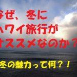 【冬のハワイ旅行】なぜ「12月・1月・2月」のハワイ旅行がおすすめなのか?