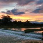 むっちゃきれいな夕焼けに癒されました~♡ 賀茂川最高です!