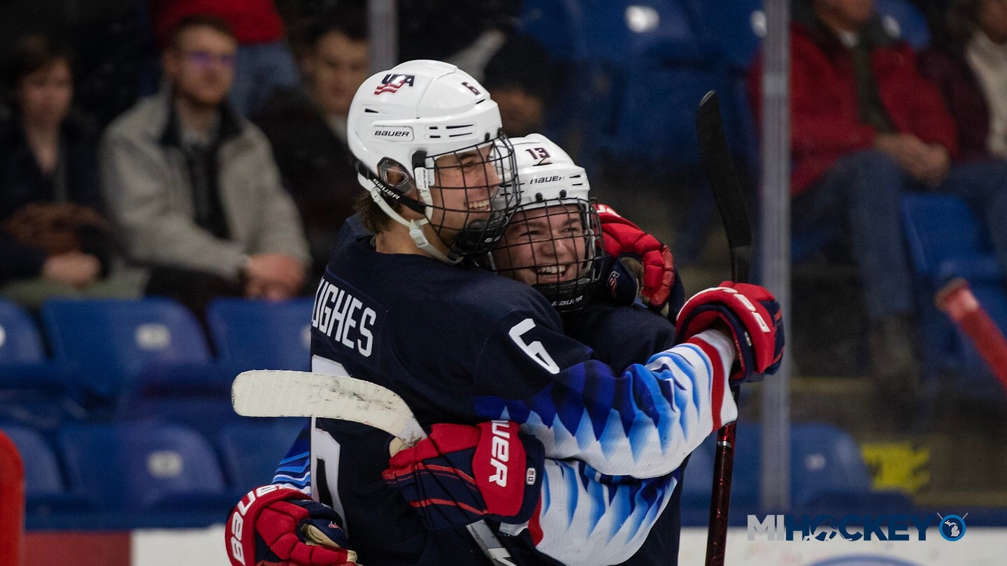 Jack Hughes breaks NTDP points record Cole Caufield breaks goals record