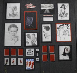 Jada Merritt's collection of art.