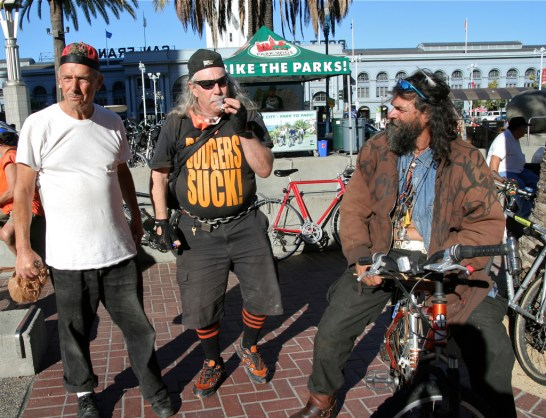 Getting ready for the ride. San Francisco Critical Mass Aug 30 2013. Photo: Miikka Järvinen