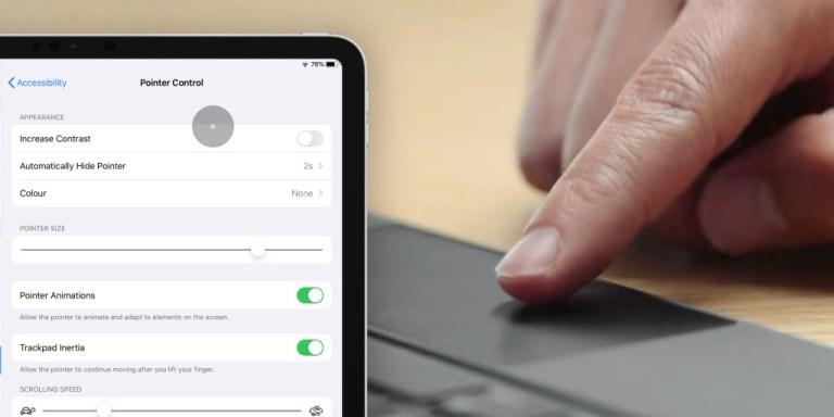 Как настроить курсор мыши на iPad: скорость отслеживания, анимация, цвет, другое