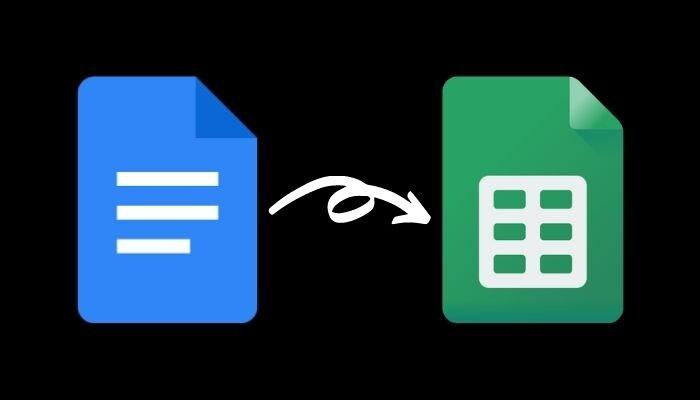 Как импортировать документ Google Docs в Google Sheets
