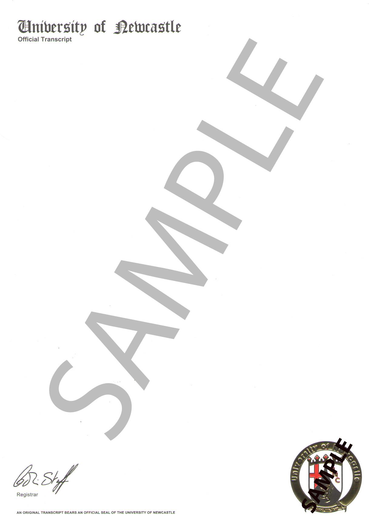 Sample Diplomas