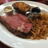 Prime rib in Whistler, BC! A tradition for my son and I. And it must be done rare!
