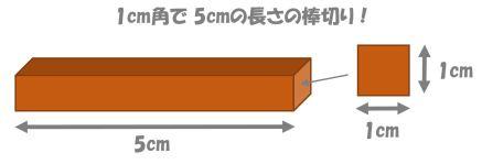 1cm角の棒切り
