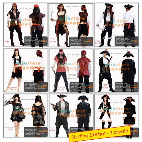 miiostore's Pirate Costumes Singapore Catalogue