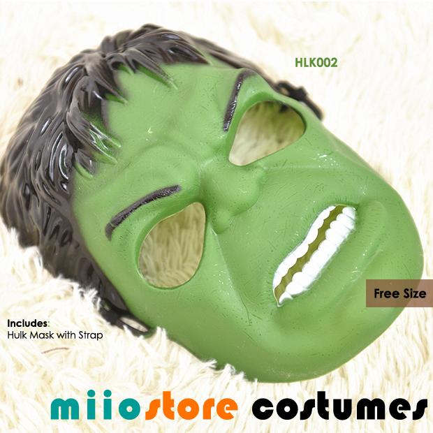Hulk Mask Accessories - miiostore Costumes Singapore HLK002