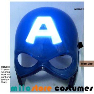 Captain America Mask Accessories - miiostore Costumes Singapore MCA01