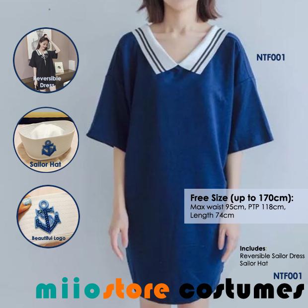 miiostore's Sailor Dress Costume - Nautical Theme - miiostore Costumes Singapore