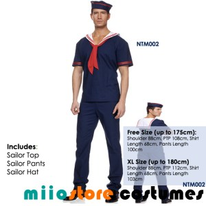 miiostore's Sailor Male Costume - Nautical Theme - miiostore Costumes Singapore