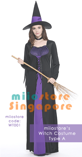 WT001 Witch Costumes - miiostore Costumes Singapore