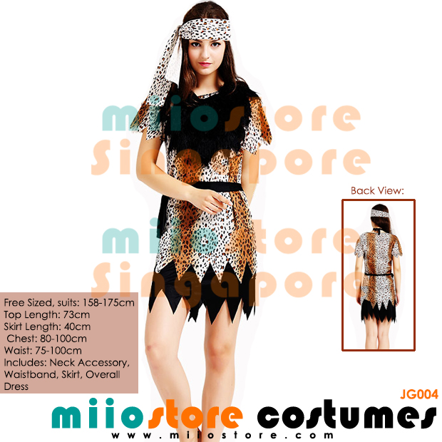 Jungle Costumes Singapore - Safari Zoo Leopard Prints - miiostore Costumes Singapore - JG004