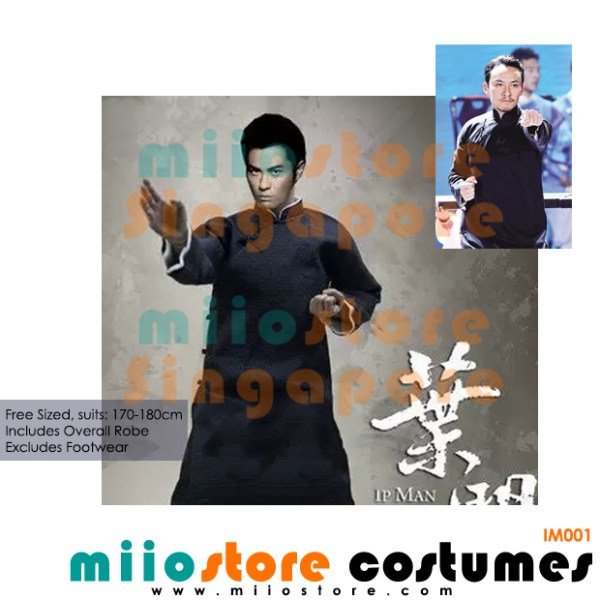 Chinese Kungfu Costume Ip Man Uniform - miiostore Costumes Singapore - IM001