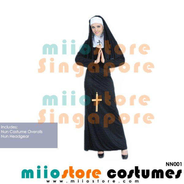 Nun Costumes - NN001 - miiostore Costumes Singapore