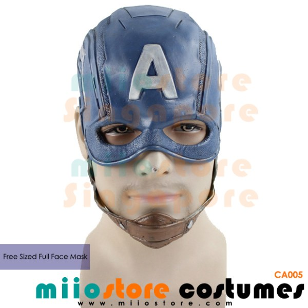 Captain America Full Faced Mask - miiostore Costumes Singapore - CA005