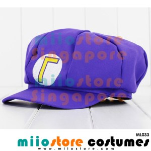 Limited Edition Premium Waluigi Jockey Cap ML033 - miiostore Costumes Singapore