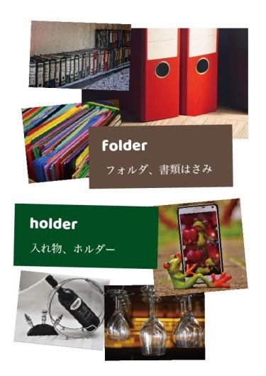 フォルダー【folder:畳む】とホルダー【holder:保存する】