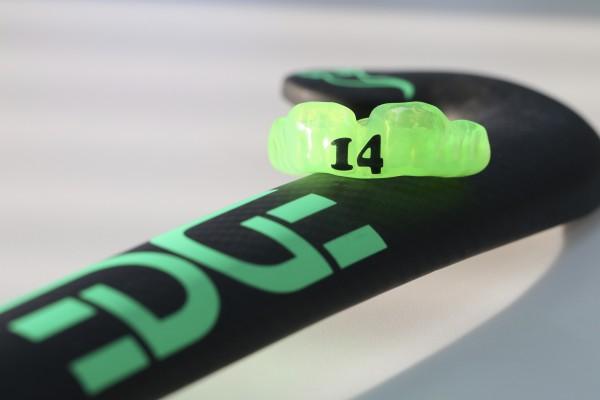 hockeybitje, rugnummer, mondbeschermer